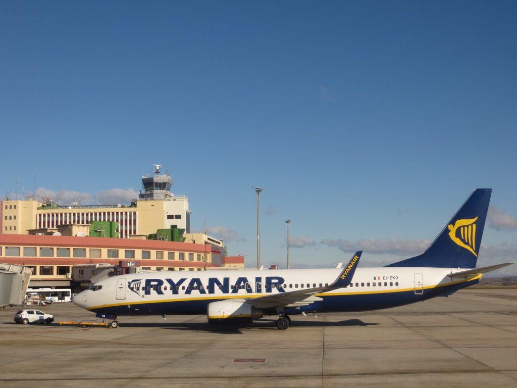 airport-avión rayanair